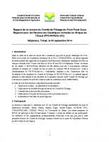 Rapport de la Réunion du Comité de pilotage PFS-R AO