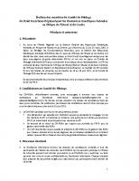Selection des membres du CP du PFS-R – RGAn – AOC-June2011