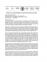 Summary on TCP RAF 3401 Assistance for a Regional Initiative on AnGR in Africa