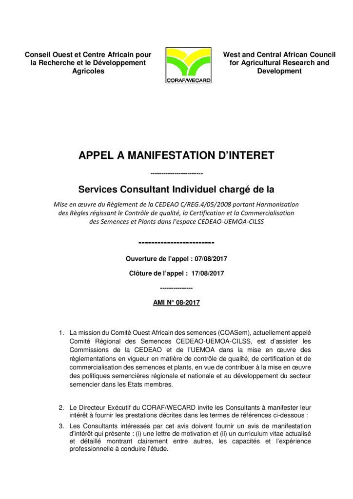 thumbnail of AMI-08-2017-TDR-Expert-Politique-Semencière1