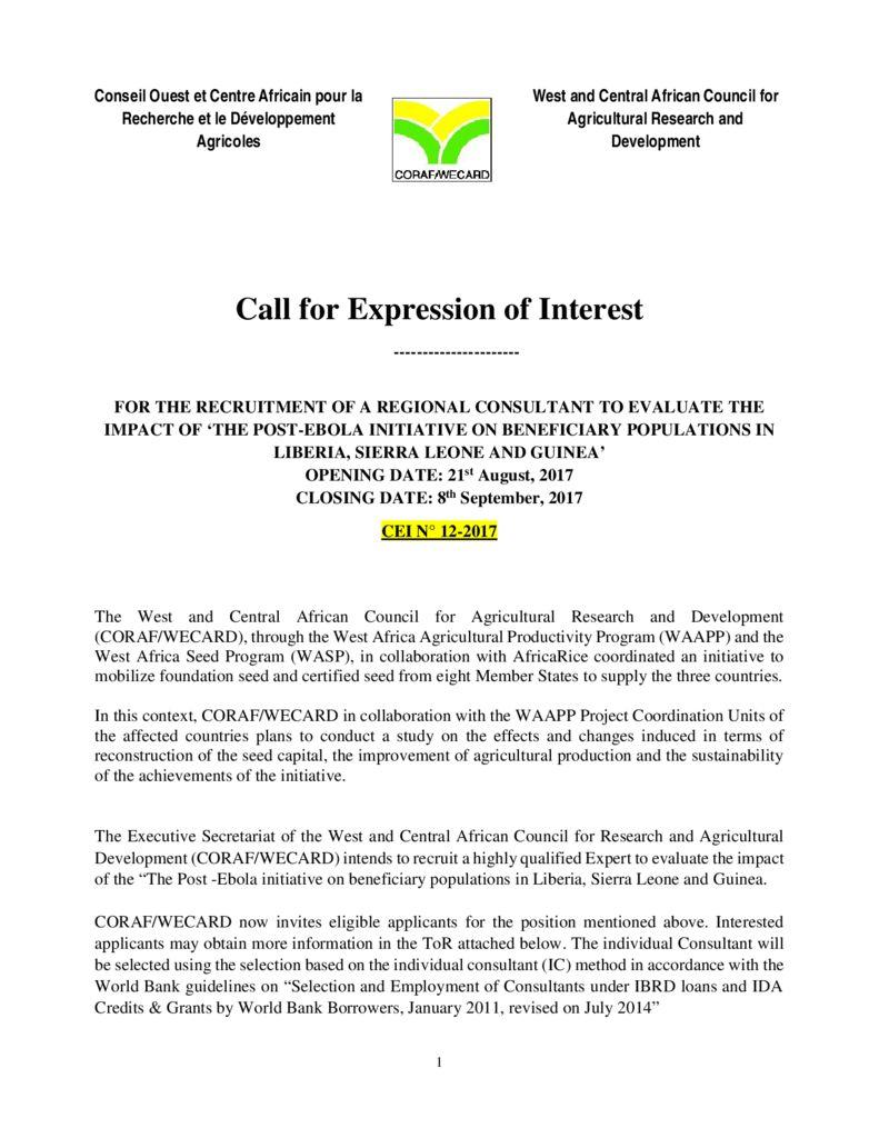 thumbnail of CEI-12-2017-Etudes-spécifiques-semences-Ebola1