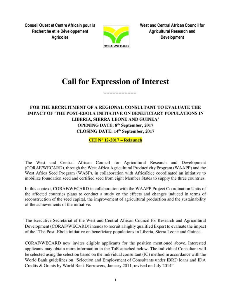 thumbnail of CEI-12-2017-Etudes-spécifiques-semences-Ebola-Relaunch